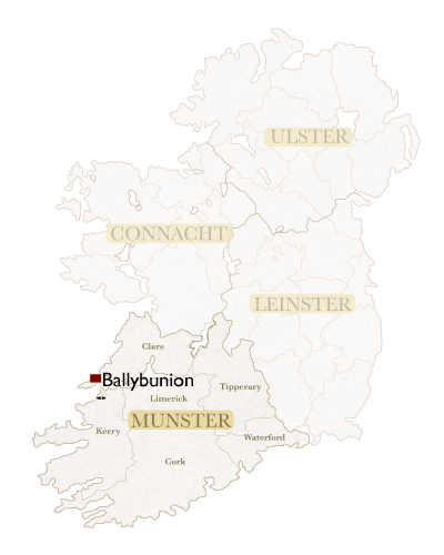 Irish Golf Academy Irish Map Ballybunion