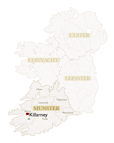 Irish Golf Academy Irish Map Killarney